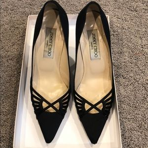 Jimmy Choi Beautiful Satin black pumps . Size 35